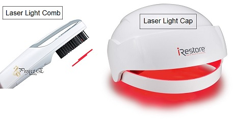 Laser comb vs laser hair growth cap