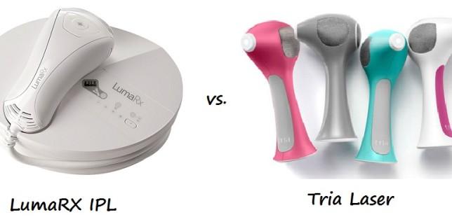 LumaRX IPL vs Tria Laser