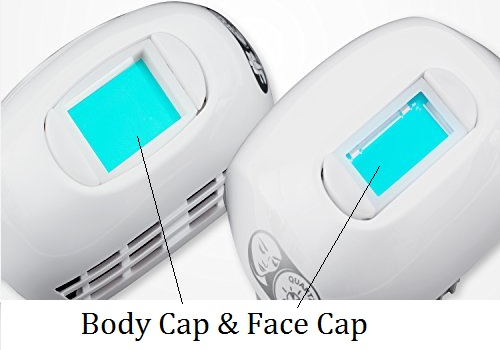 Lumarx Facial face cap and Body Cap Compared