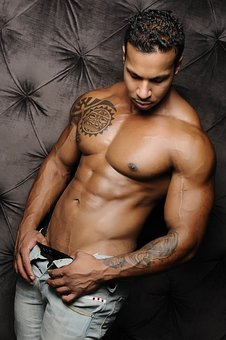 Man tattoo IPL laser hair Remington removal
