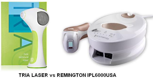 Remington IPL6000USA i light pro vs Tria laser