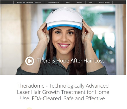 Theradome FDA clearance home page