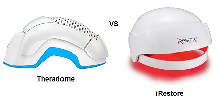 Theradome vs irestore laser hair growth helmet