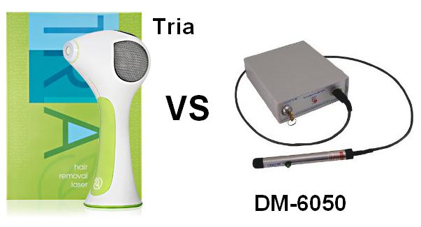Tria laser vs DM6050 laser