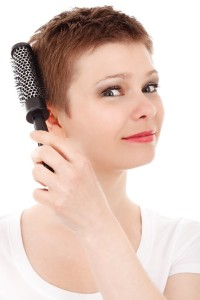 Woman hair regowth laser cap helmet