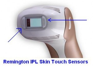 remington ipl skin touch sensors