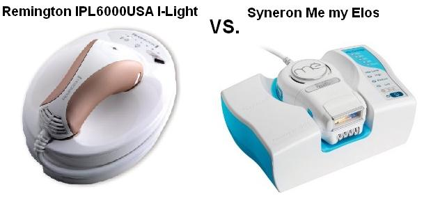 Compare Remington IPL6000 USA I-light pro to Syneron Me my Elos IPL